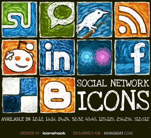 [Freebie] Social Network Icon Set | Hongkiat.Com