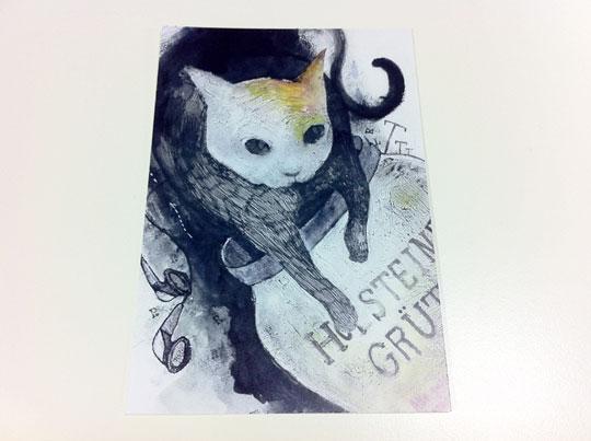 ネコのポストカード