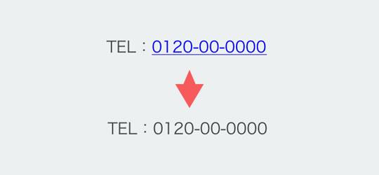 3.電話番号に自動的にリンクが付かないようにする