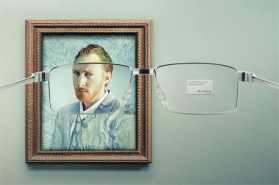メガネメーカー「Keloptic」の広告