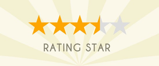 CSS(Sass)でレーティング評価の星(★)を表現する方法