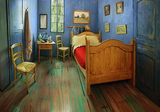 リアル版「ファン・ゴッホの寝室」
