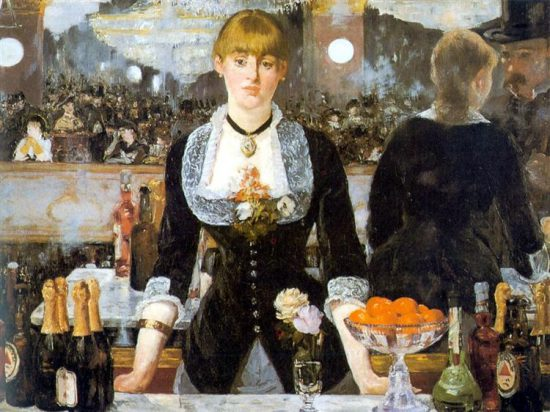 マネ「フォリー・ベルジェールのバー(1882年)」