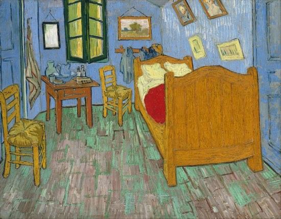 ゴッホ「ファンゴッホの寝室」