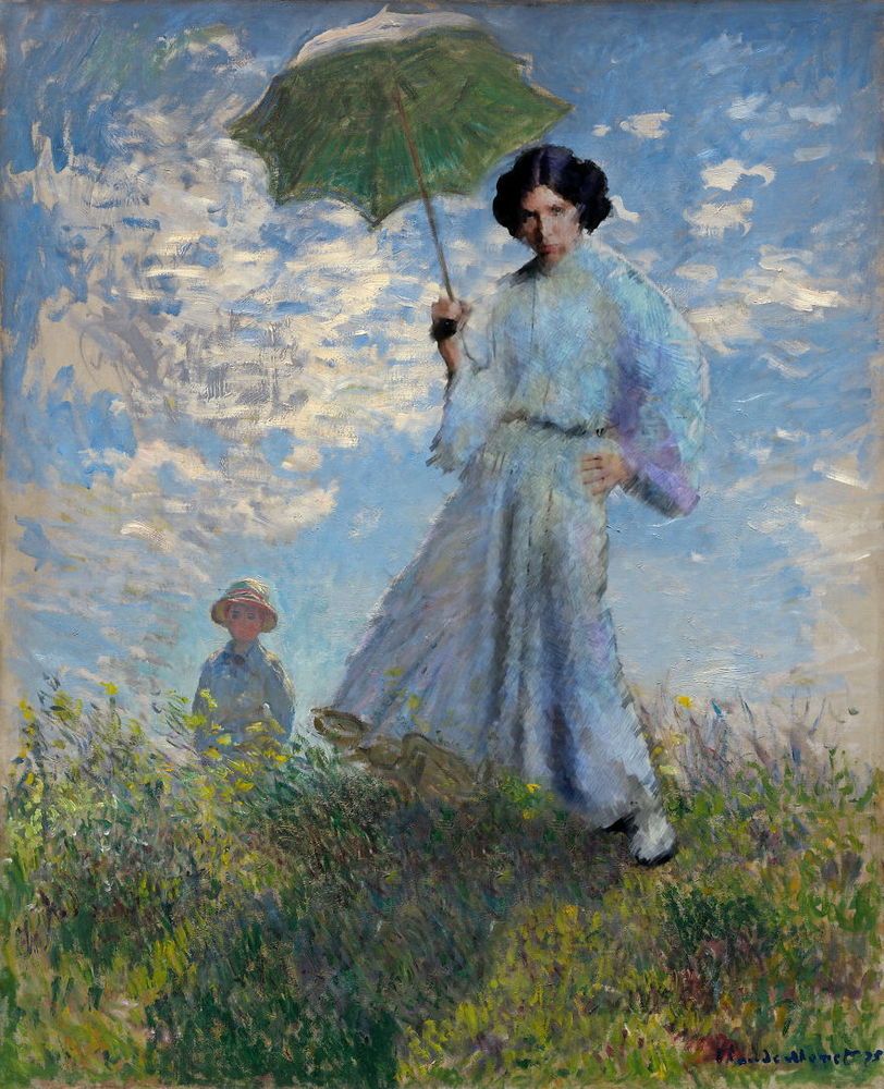 モネの「日傘を差す女」がレイア姫になっている