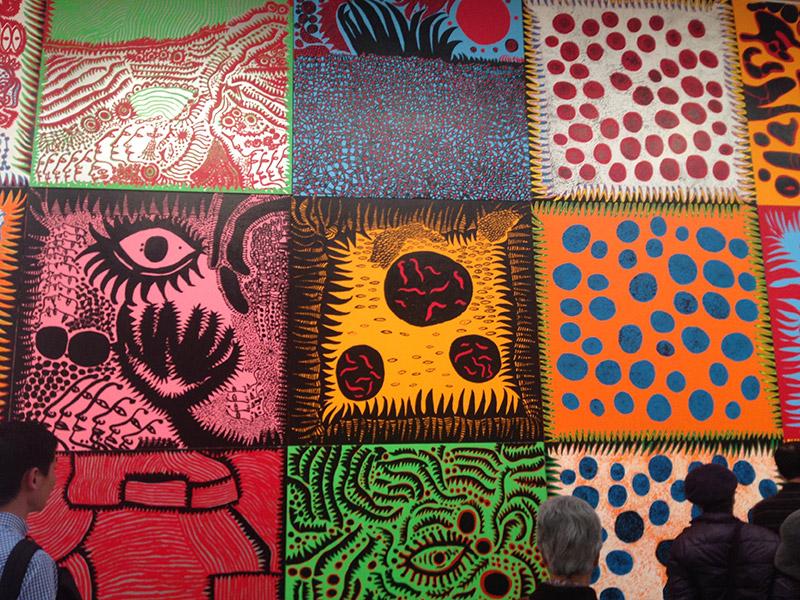 展示会「草間彌生 わが永遠の魂」と大作絵画「わが永遠の魂」