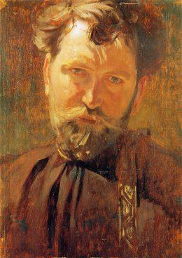 ミュシャ「自画像(1899年)」