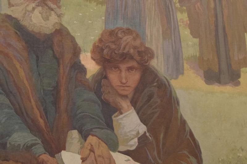 「イヴァンチツェの兄弟団学校(1914年)」の一部