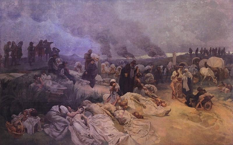 「ヴォドニャヌイ近郊のペトル・ヘルチツキー(1918年)」