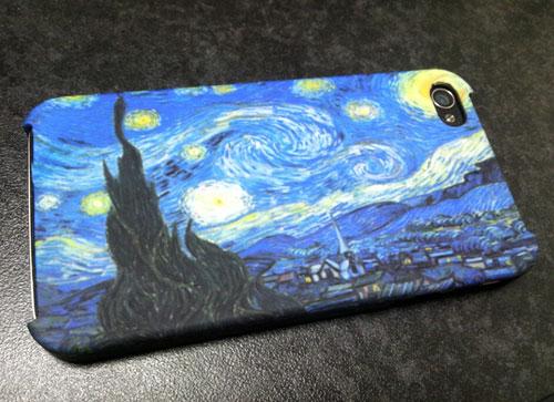 「星月夜」デザインのiPhoneカバー