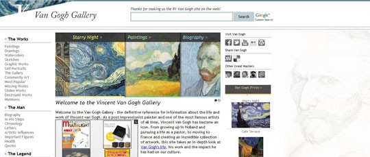 The Vincent van Gogh gallery