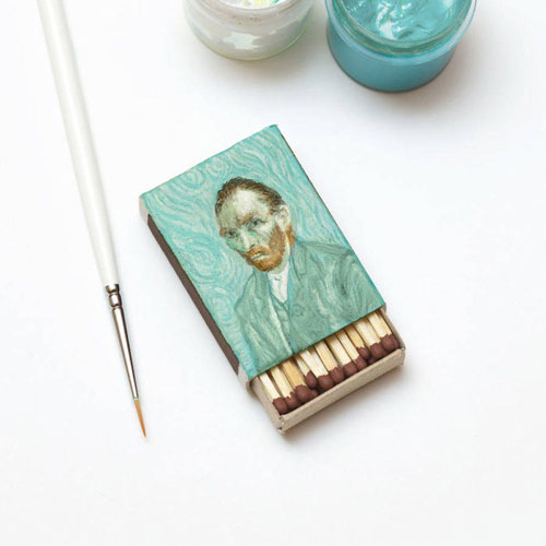 「acrylic on a matchbox」