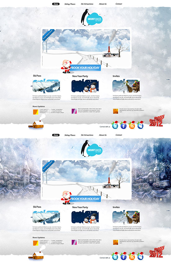 Winter Ski Centre Web Design by vasiligfx on DeviantArt