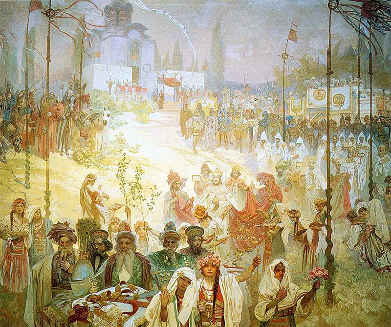 「6 東ローマ皇帝として戴冠するセルビア皇帝ステファン・ドゥシャン(1923年)」