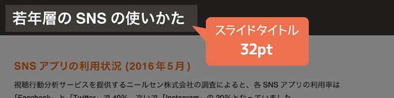 スライドタイトル(32pt)