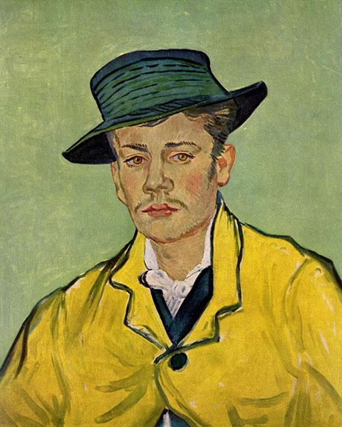 ゴッホ「アルマン・ルーランの肖像」